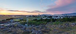 Vista de Reikiavik desde Perlan, Distrito de la Capital, Islandia, 2014-08-13, DD 112-114 HDR.JPG