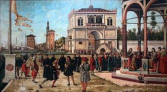 Legend of Saint Ursula - Image: Vittore Carpaccio Sant'Orsola polyptich Ritorno Degli ambasciatori