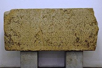 Vitudurum - Foundation stone of the castle Vitudurum dated back to 294 AD