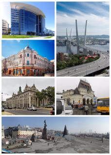Vladivostok City in Primorsky Krai, Russia