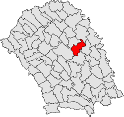 Location of Vlăsinești, Botoșani