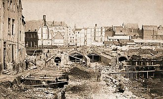 Covering of the Senne - The beginning of construction in 1867