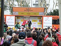 Volta Catalunya 2013. Cristiano Salerno al podi (muntanya).JPG
