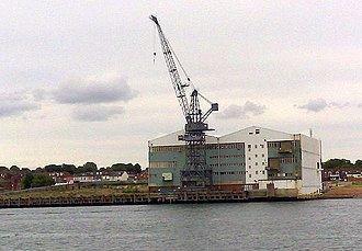 John I. Thornycroft & Company - The VT Group yard at Woolston, home of Thornycrofts shipbuilding from 1906 to 2004
