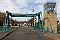 Vue est du pont routier basculant à l'entrée du port (Redon, Ille-et-Vilaine, France).jpg