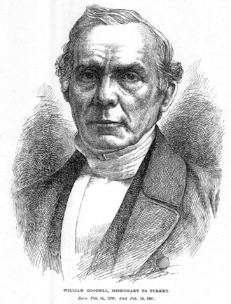 William Goodell (missionary) - William Goodell, Missionary to Turkey