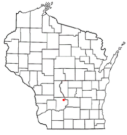 Location of Delton, Wisconsin