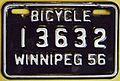 WINNIPEG MANITOBA 1956 -BICYCLE PLATE - Flickr - woody1778a.jpg