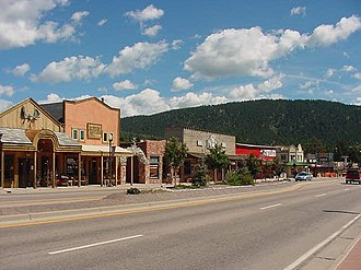 Woodland Park, Colorado - A section of historic downtown Woodland Park