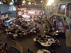 definition of newsroom