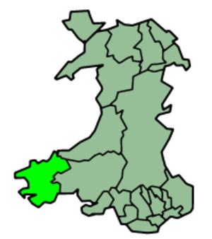 Pembroke, Pembrokeshire - Image: Wales Pembrokeshire