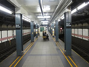 Wall Street (IRT Broadway–Seventh Avenue Line) - Image: Wall Street IRT Broadway 009