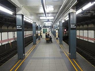 Wall Street (IRT Broadway–Seventh Avenue Line) - Image: Wall Street IRT Broadway 009
