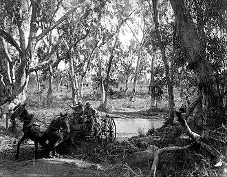 Elsey National Park - Image: Walter Baldwin Spencer Crossing Salt Creek near the Roper River, Eastern Arnhem Land, Australia, July 1911 Google Art Project