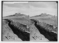 War views of Neby Samuel (Mizpah). Neby Samuel from the British trenches. LOC matpc.02235.jpg