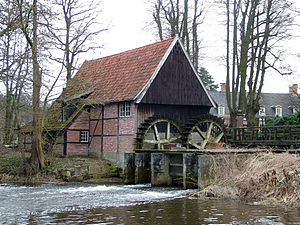 Lage, Lower Saxony - The watermill in Lage