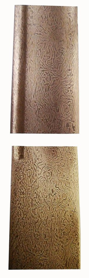 "Crucible steel - ""Woodgrain"" pattern of a sword blade made of crucible steel, Zand or Early Qajar period: (Zand) 1750–1794 AD; (Qajar) 1794–1952 AD, Iran.(Moshtagh Khorasani 2006, 516)"