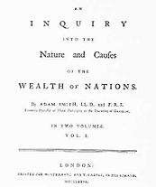 Cover of Adam Smith's major work The Wealth of Nations