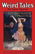 Weird Tales cover image for July 1927