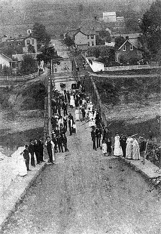 Shinnston, West Virginia - West Fork River Bridge in Shinnston, 1887
