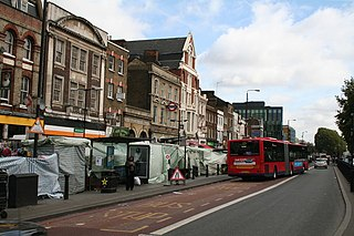 Whitechapel Road Street in the London Borough of Tower Hamlets