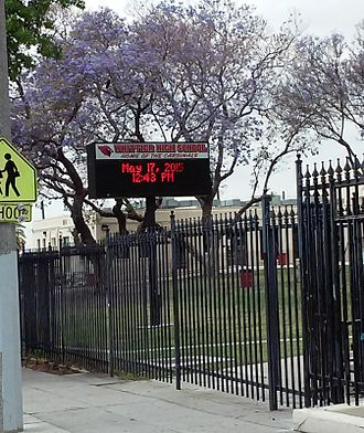 Whittier High School - The sign in front of Whittier High School