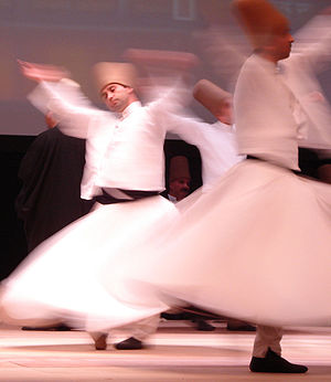 Sufi whirling - Whirling Dervishes, at Rumi Fest 2007