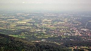 Cieszyn Silesia - Cieszyn Silesian landscape seen from Velká Čantoryje/Wielka Czantoria