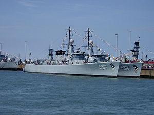Belgian frigate Wielingen (F910) - Image: Wielingen (F910) 2003