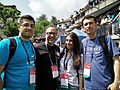 Wikimedians from Albania with Jimmy Wales.jpg