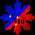 Wikipedia 10th anniversary Baybayin script.png