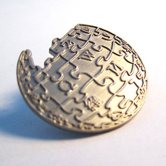 Lapel pin - A Wikipedia lapel pin