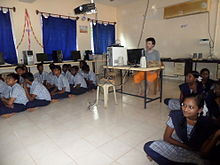 Wikipedia workshop Kuilapalayam Higher Secondary School.JPG