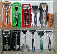 Collection of modern safety razors: Gillette F...