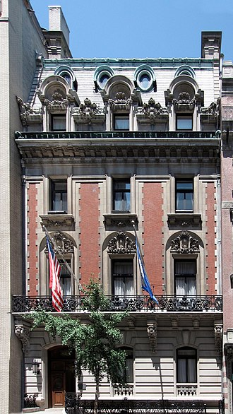 Richard Howland Hunt - 5 East 66th Street, now the Lotos Club