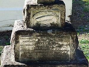 HMS Dauntless (D45) - Image: William John Harrhy Headstone