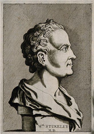 William Stukeley - A 1776 line engraving of Stukeley, based on a 1727 illustration by I. Whood