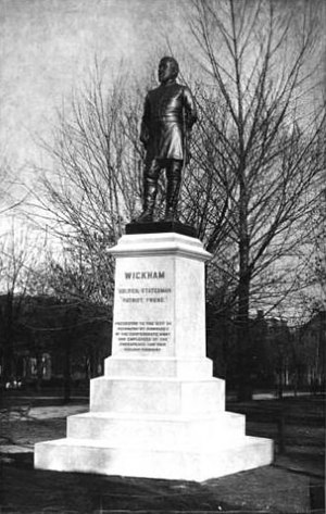 Williams Carter Wickham - Statue of Williams Wickham sculpted by Edward V. Valentine and placed in Monroe Park