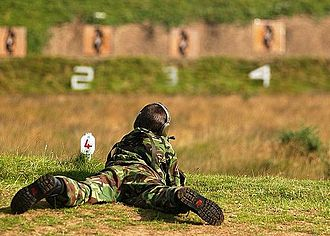 Army Cadet Force - At the Wiltshire Army Cadet Force Annual Camp 2005, the cadets were allowed to fire live rounds at targets