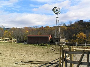 Southeast, New York - The windmill at Tilly Foster Farm