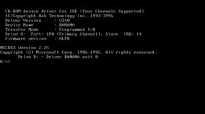 MSCDEX - MSCDEX as seen from a Windows 98 installation CD