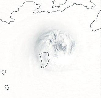 Cyclone Winston - The eye of Winston over Koro Island on February 20