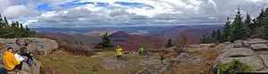 Wittenberg Mountain - Image: Wittenberg summit panorama