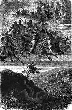 "Wild Hunt - ""Wodan's Wild Hunt"" (1882) by Friedrich Wilhelm Heine"