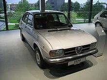 Un'Alfasud seconda serie, versione 4 porte del 1979