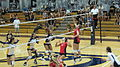 Women's volleyball, Fresno State at Cal 2010-09-11 2.JPG