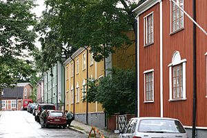 Vallila - Image: Wooden Vallila houses 2 2005 29 08