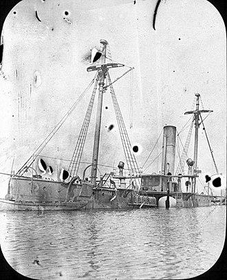 Patricio Montojo y Pasarón - The wreck of Montojo's second flagship, Isla de Cuba