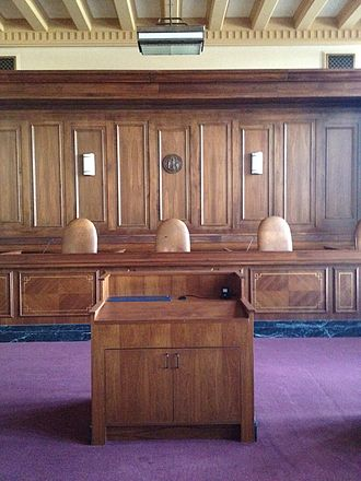 Wyoming Supreme Court - Wyoming Supreme Court courtroom