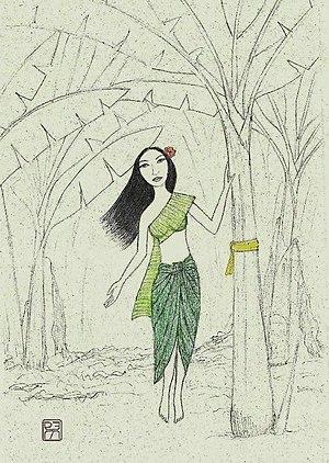 Thai folklore - Nang Tani, the female spirit that haunts banana trees